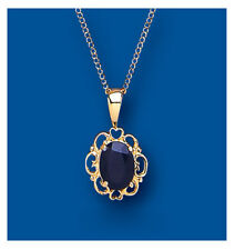 Sapphire pendant Sapphire Necklace Yellow Gold Sapphire Pendant Natural Sapphire