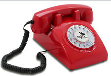 Retro/Vintage Landline Telephone OPIS 60s Cable: Phone Red
