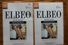 2 ELBEO MIRAGE STOCKINGS made in UK NIP