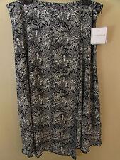 NEW Sag Harbor Women's Size 16 Black White Wrap Style Asymmetrical Hem Skirt