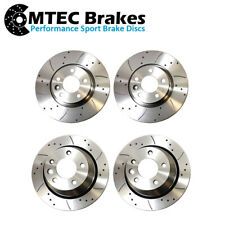 Volvo S40 1.6 01//05 Front Brake Discs Drilled Grooved Mtec Sport Gold Edition