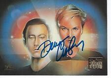 "DENISE CROSBY SIGNED 1994 ""STAR TREK"" TNG MASTER SERIES #35 - TASHA YAR"
