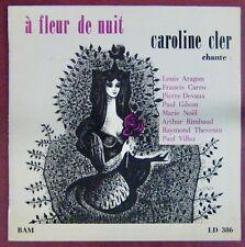Caroline Cler 33 tours 25 cm A fleur de nuit
