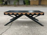 Vintage mid century Castro Convertible black table