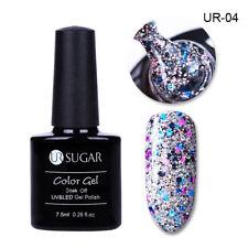 7.5ml UR SUGAR Glitter UV Gel Nail Polish Rose Gold Holographic Soak off Varnish