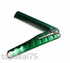 Pocket Folding Comb for Men Hair Care High Quality Plastic Handy Travel Use