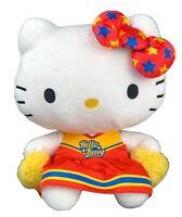 "NWT Sanrio Hello Kitty 11"" Cheerleader Plush Stuffed Toy Collectible"