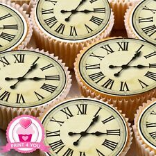 24 Nd2 Cara De Reloj Antiguo Comestibles Glaseado Cake Toppers Decoración