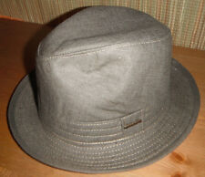 NEW STETSON LINEN FEDORA Hat medium olive Made in USA