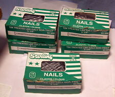 "** FIVE (5) - 1 Lb Box - 3 1/4"" USA - GALVANIZED Spiral Nails for TREATED LUMBER"