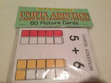 UNIFIX ADDITION - Cards for Learning Center 60 Cards- Math Teaching  supplies