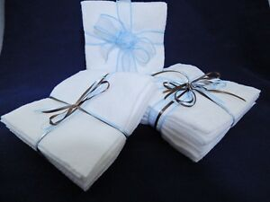 Batting Fabric 11in by 11in Die Cut 20 Squares 100% Cotton