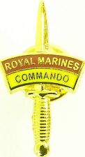43 COMMANDO ROYAL MARINES CLASSIC DAGGER HAND MADE IN UK PLATED LAPEL PIN BADGE