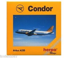 Herpa 501682 Condor Airlines Airbus A320-200 1:500 Scale RETIRED 2002 New