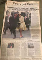 NY TIMES Jan 21, 2009 OBAMA INAUGURATION
