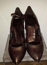 STUART WEITZMAN Womens Designer Bronze Leather Pump Heels Size 9