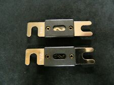 2 PACK 100 AMP ANL FUSE FUSES GOLD PLATED INLINE WAFER HIGH QUALITY HOLDER