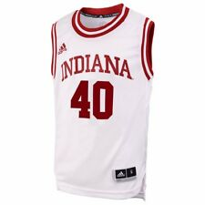 609ddb9252e adidas Youth Indiana Hoosiers  40 White Replica Basketball Jersey