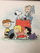 The Peanut Gang Giclee on Paper Limited Edition 13/150 Peanuts Charlie Brown