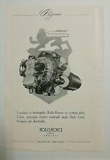 Pubblicità 1950 AEREO CACCIA PROGRESSO ROLLS-ROYCE advertising werbung reklame