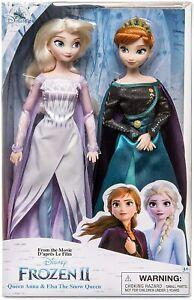 Disney Frozen 2 Queen Anna and Elsa The Snow Queen Classic Doll Set *DAMAGED BOX