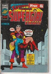 1977 Superman Presents SUPERGIRL #24 Australian Planet Comics DC Family 177