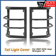 Steel Pair Tail Light Cover Cage Light Guards For Jeep Wrangler 07 17 Jk Jku Fits Jeep