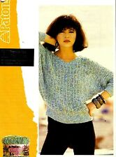 Patons Cotton Colada KNITTING PATTERN, Women V-Neck DOLMAN