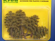 Alberi da giardino per modellismo verde autunno 5 pz. H.cm. 8,5  HO - 1/87 Krea