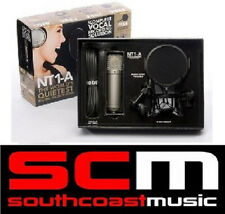 RODE NT1A CARDIOD CONDENSOR MIC MICROPHONE BUNDLE w SHOCK MOUNT POP FILTER NT1-A