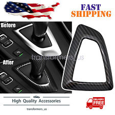 Carbon Fiber Style Gear  Shift Surround Cover Fit For BMW F20 F21 F32 F10 X3 X4