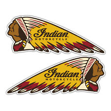 indian motorcycles pair of stickers /  motorcycle retro 130mm x 50mm