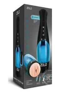 Zolo Thrustbuster Masturbator Textured Vibrating Rechargeable Stroker