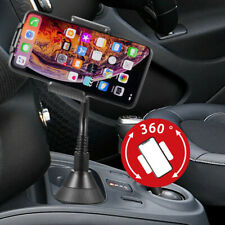 Heavy Duty Cup Holder Phone Car Mount Goose Neck for iPhone Samsung All Phones