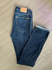 Nudie Jeans High Kai Organic Denim Blue Jeans Preowned, Washed, Worn, Authentic