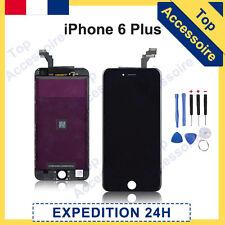 ECRAN IPHONE 6 PLUS NOIR VITRE TACTILE + LCD ORIGINAL RETINA SUR CHASSIS +OUTILS