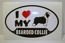 New Bearded Collie Dog Sticker for Vehicle or Window! (New old stock) Free S&H