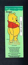 1990 Disneyland 35th Anniv Dream Machine Game Ticket Pooh Bear FREE Ship DISNEY