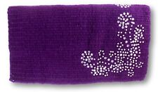 Tough-1 Purple Mini Wool Show Saddle Blanket w/ Silver Dot & Crystals Horse Tack