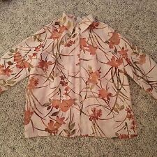 Alfred Dunner Woman size 16W 3/4 sleeve summer top