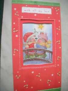 With All My Love Happy Christmas (Hedgehogs on Bridge) Country Companions Card