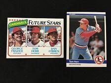 TOM HERR ROOKIE TOPPS 1980 & 1984 FLEER CARDINALS VINTAGE BASEBALL CARDS