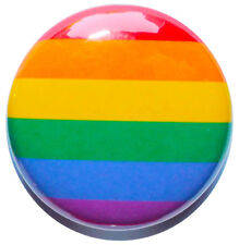 "1"" (25mm) Rainbow / Gay Pride Button Badge Pin - MADE IN UK - High Quality"