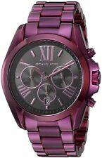 Michael Kors BRADSHAW Chronograph Black Dial Purple-Tone Ladies Watch MK6398 Nib