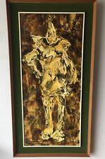 Rare Tin Man/Clown  MCM MId Century Original  Painting Vittorio Muscariello