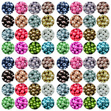 Wholesale Glass Pearl Round Spacer Loose Beads 4mm/6mm/8mm/10mm LOT
