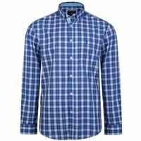 Mens Big Tall KAM long sleeve Casual Check checkred Shirt button down collared
