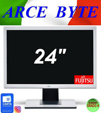 "MONITOR PC Fujitsu 24"" B243W FULL HD 1920x1200 VGA DVI HDMI FATTURABILE GRADO A"