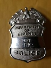 Vintage Department Of Defense dod Police Badge fort ft detrick md maryland