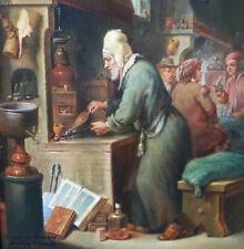 Calzada B. nach David Teniers Der Alchemist Alchemie Alchemy GENRE Malerei